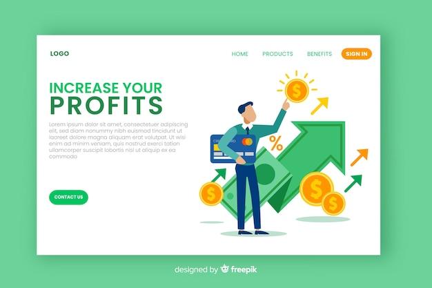 Flache business landing page vorlage Kostenlosen Vektoren