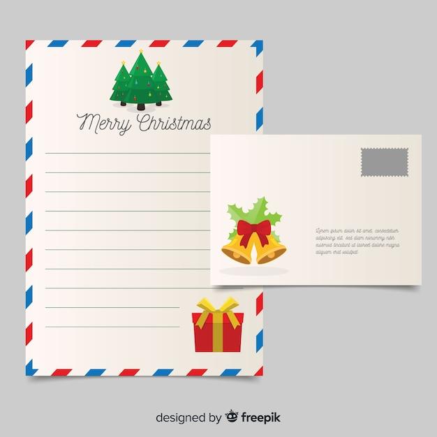 Flache Dekoration Weihnachten Briefvorlage Download Der