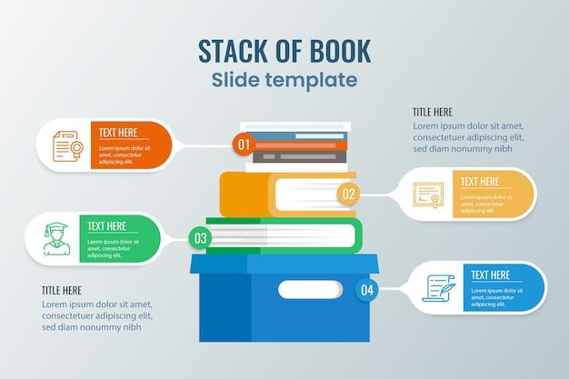 Flache designbuch infografik Kostenlosen Vektoren
