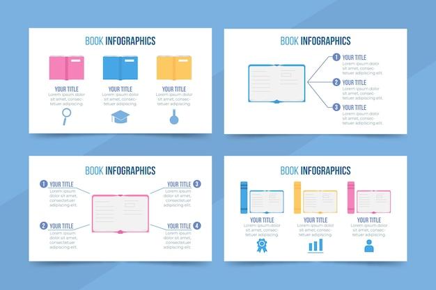 Flache designbuch infografiken vorlage Kostenlosen Vektoren