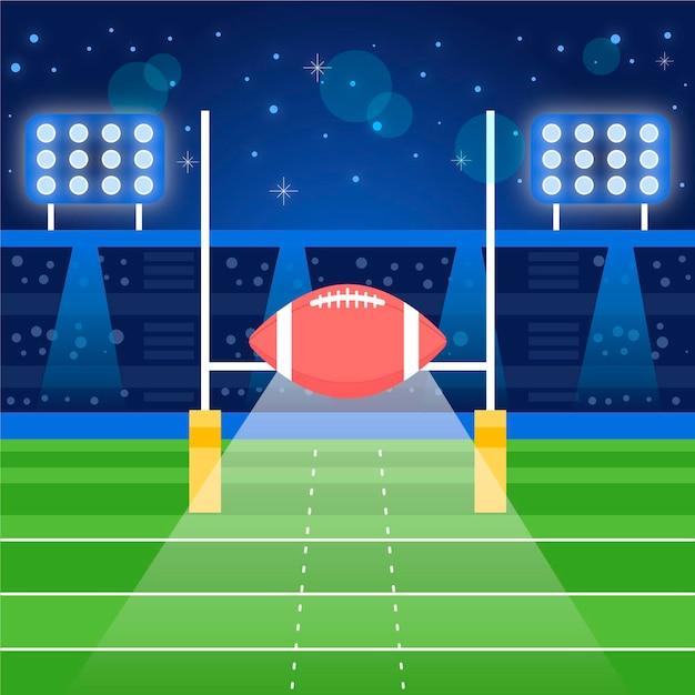 Flache designillustration des amerikanischen fußballs Kostenlosen Vektoren