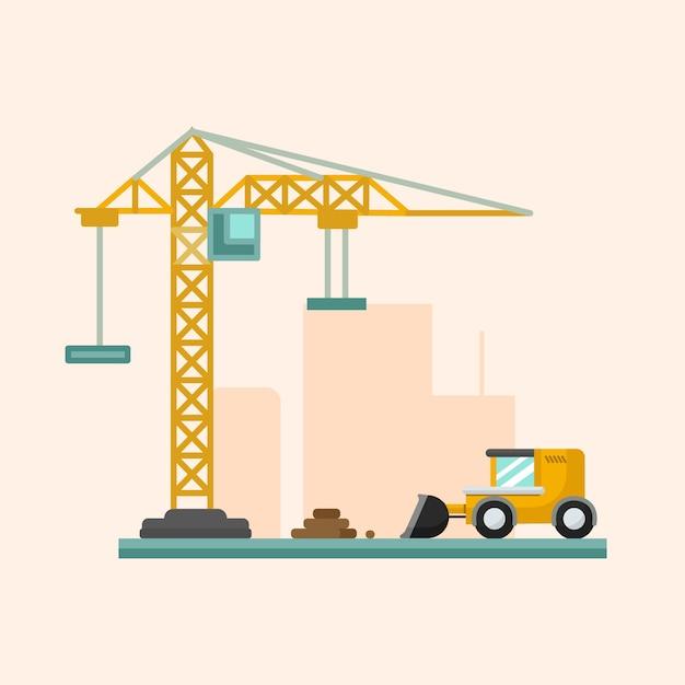 Flache einfache konstruktionsillustration Premium Vektoren