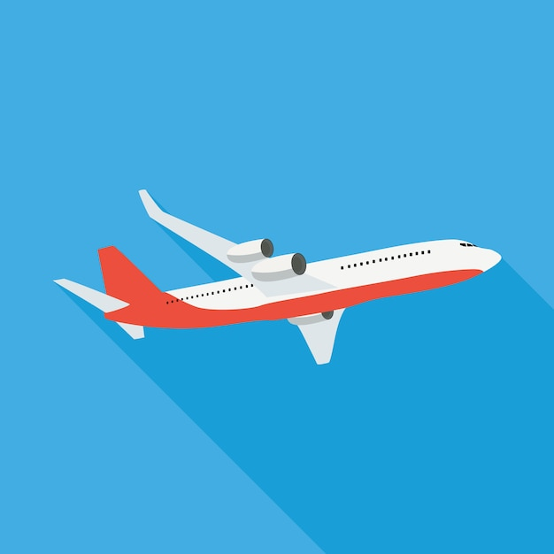 Flache flugzeug illustration Premium Vektoren