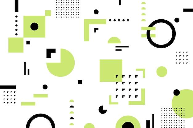 Flache geometrische formen hintergrund Kostenlosen Vektoren