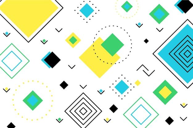 Flache geometrische grüne formen hintergrund Kostenlosen Vektoren