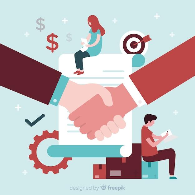 Flache geschäft hintergrund Kostenlosen Vektoren
