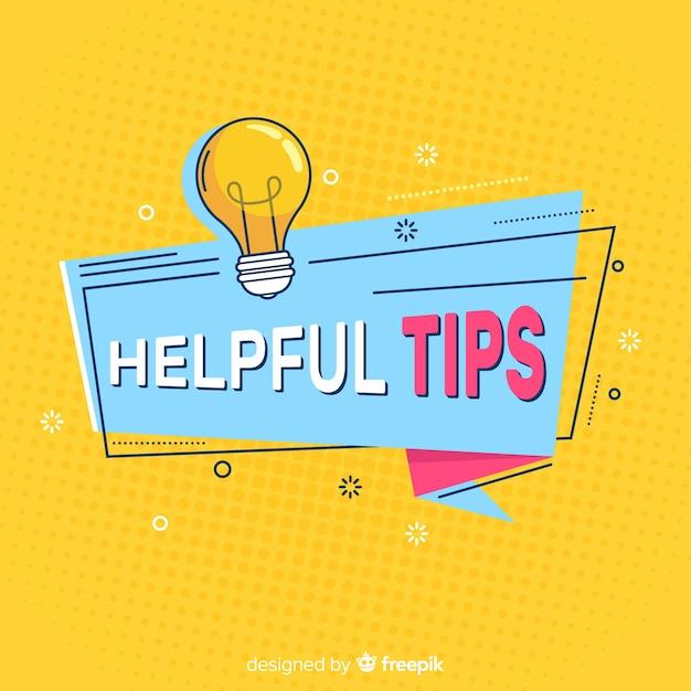 Flache hilfreiche tipps konzept Kostenlosen Vektoren