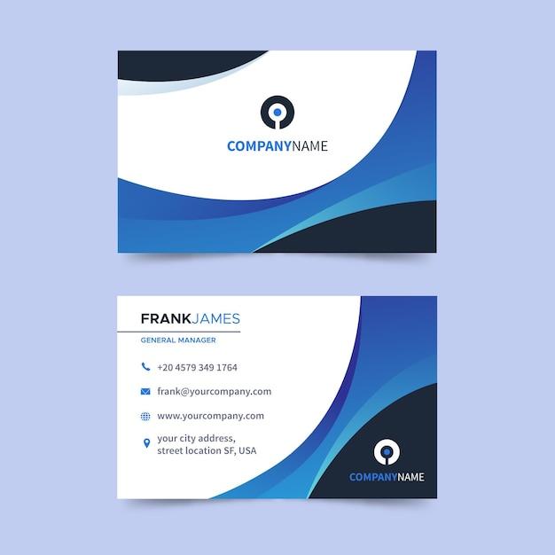 Flache horizontale visitenkarte Premium Vektoren