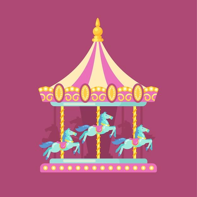 Flache illustration des spaßmesse-karnevals Premium Vektoren