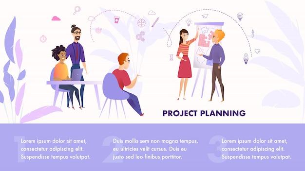 Flache illustrations-gruppen-leute, die an projekt arbeiten Premium Vektoren