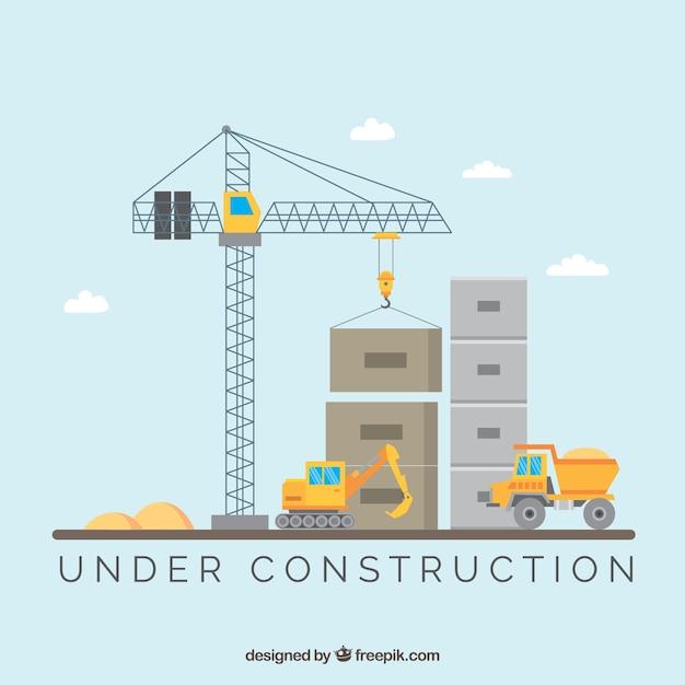Flache im Bau Vorlage Kostenlose Vektoren