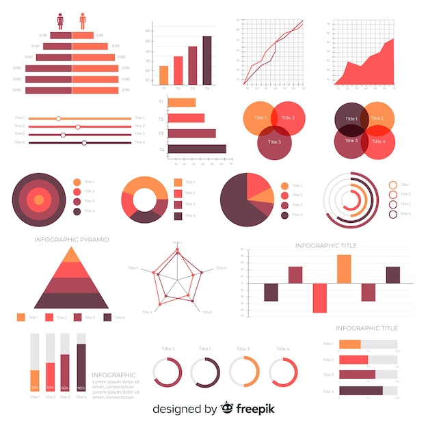 Flache infografik elementsammlung Kostenlosen Vektoren