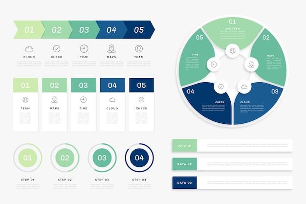 Flache infographik elementsammlung Kostenlosen Vektoren