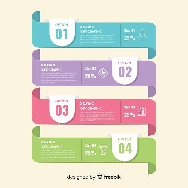 Flache infographik vorlage Kostenlosen Vektoren
