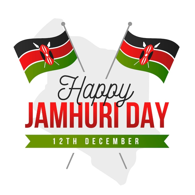 Flache jamhuri-tagesfeier Kostenlosen Vektoren