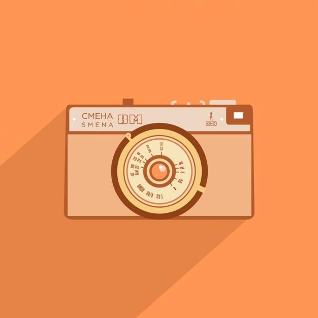Flache kamera-design Kostenlosen Vektoren