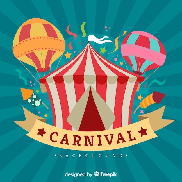 Flache karneval hintergrund Kostenlosen Vektoren