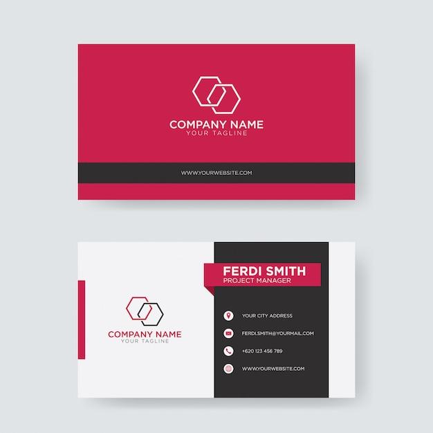 Flache Kreative Visitenkarte Premium Vektor