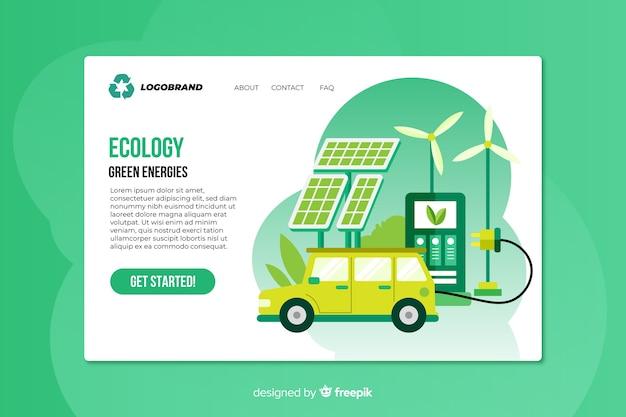 Flache ökologie-landingpage-vorlage Kostenlosen Vektoren