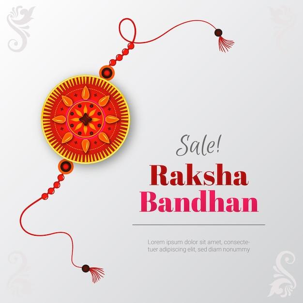 Flache raksha bandhan verkäufe Kostenlosen Vektoren