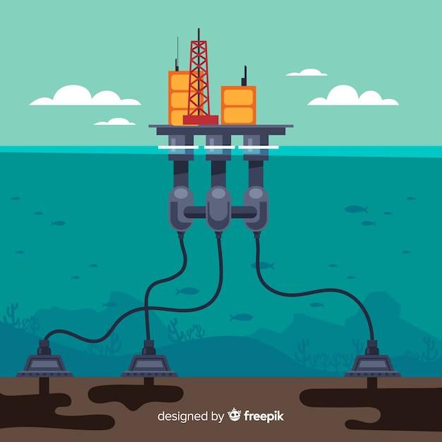 Flache schiffsingenieurmaschine Kostenlosen Vektoren