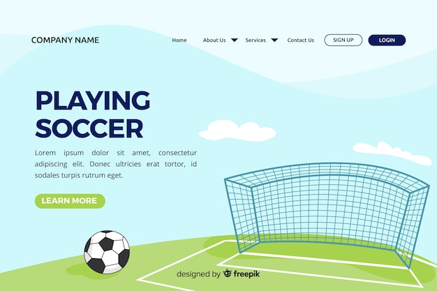 Flache sport landing page vorlage Kostenlosen Vektoren