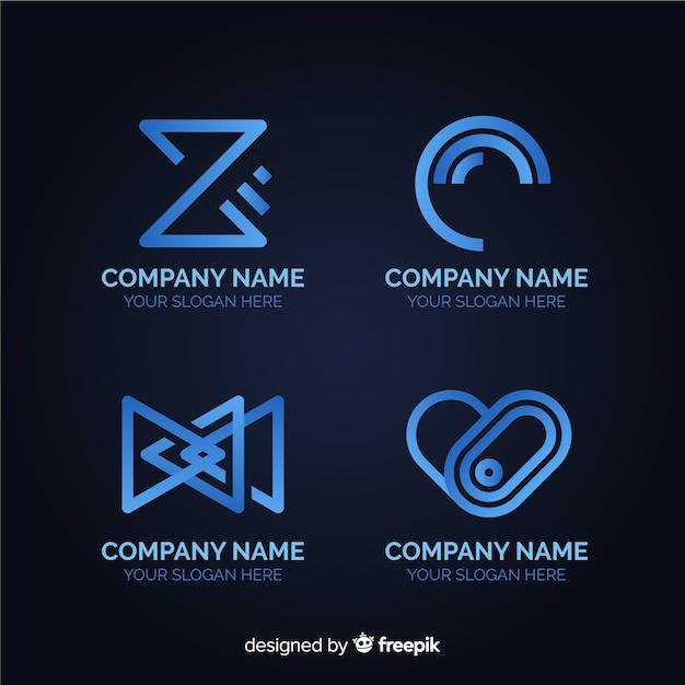 Flache technologie-logo-kollektion Kostenlosen Vektoren