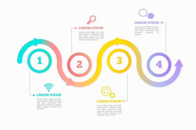 Flache timeline infographik vorlage Kostenlosen Vektoren