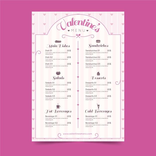 Flache valentinstagskarte Kostenlosen Vektoren
