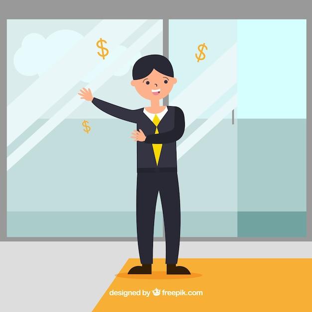 Flache verkäuferin Kostenlosen Vektoren