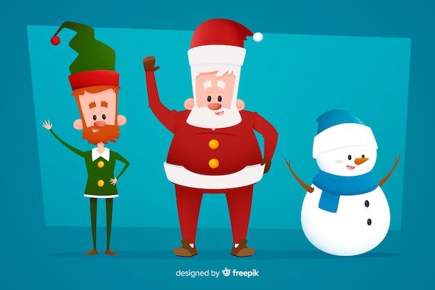 Flache weihnachten zeichen sammlung Kostenlosen Vektoren