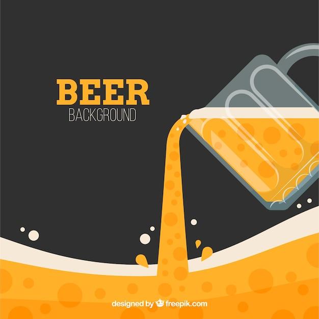 Flachen bier hintergrund Kostenlosen Vektoren