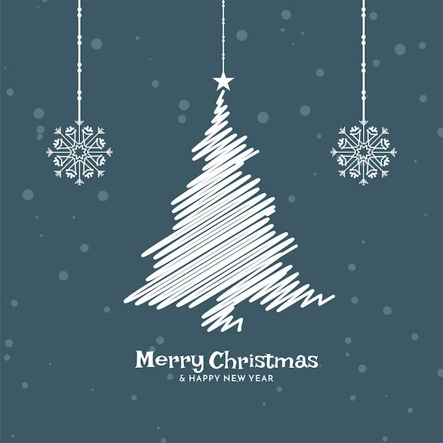 Flacher designhintergrund der frohen weihnachtsfeier Kostenlosen Vektoren