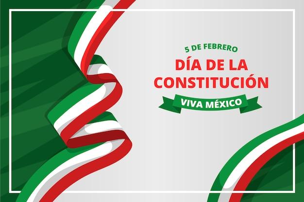 Flacher entwurf mexiko verfassungstag Kostenlosen Vektoren