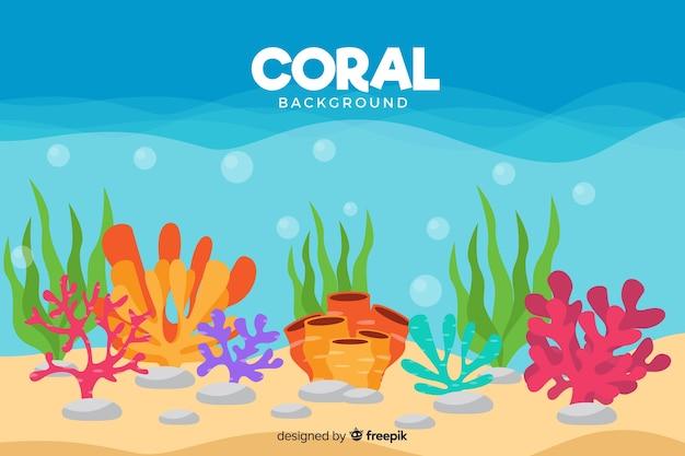 Flacher korallenhintergrund Kostenlosen Vektoren