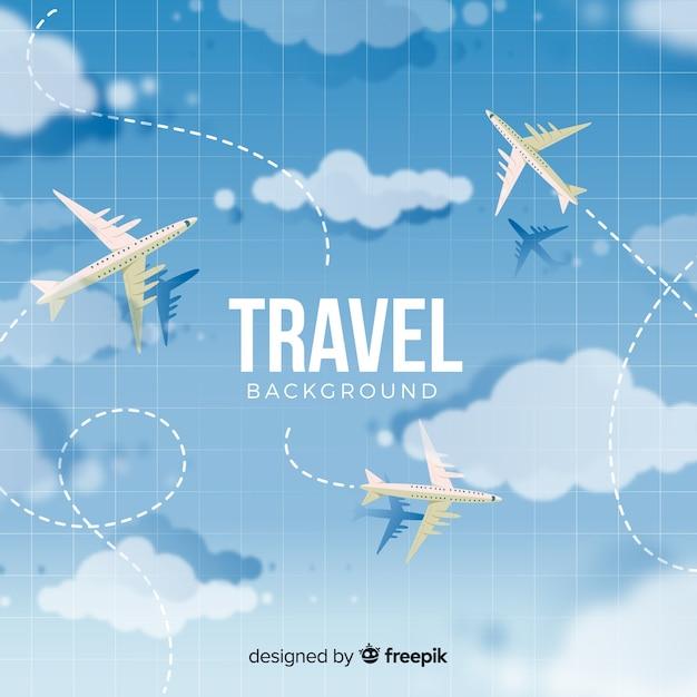 Flacher reisehintergrund Kostenlosen Vektoren