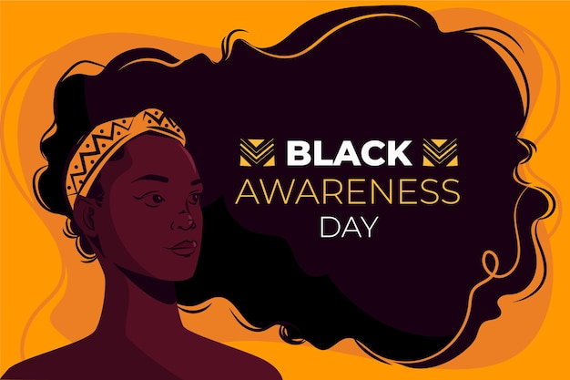 Flacher schwarzer bewusstseinstag Kostenlosen Vektoren