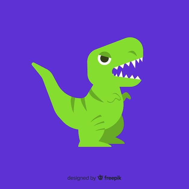 Flacher t-rex-hintergrund Kostenlosen Vektoren