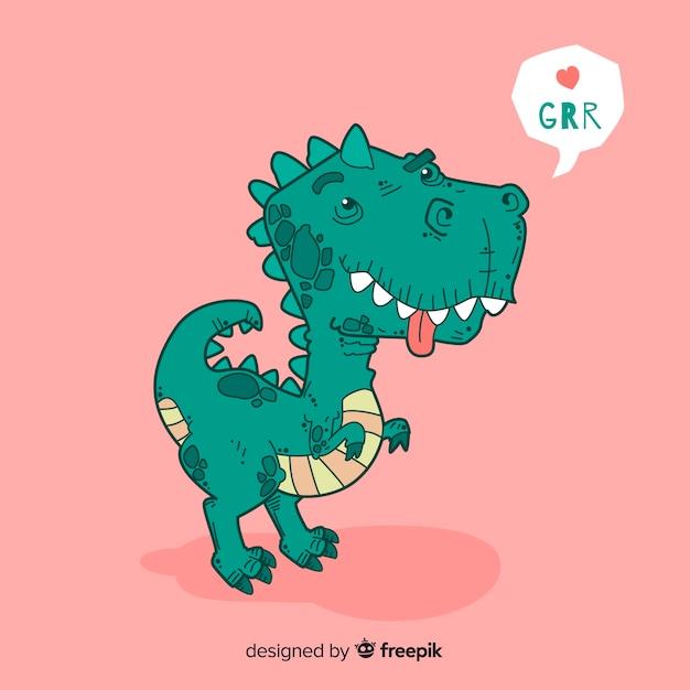 Flacher t-rex hintergrund Kostenlosen Vektoren