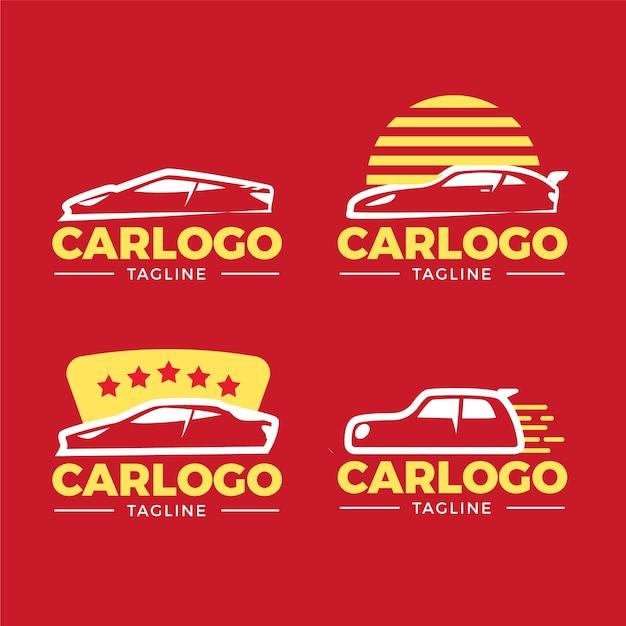 Flaches design auto logo sammlung Kostenlosen Vektoren