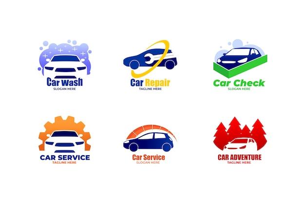 Flaches design auto logos Kostenlosen Vektoren