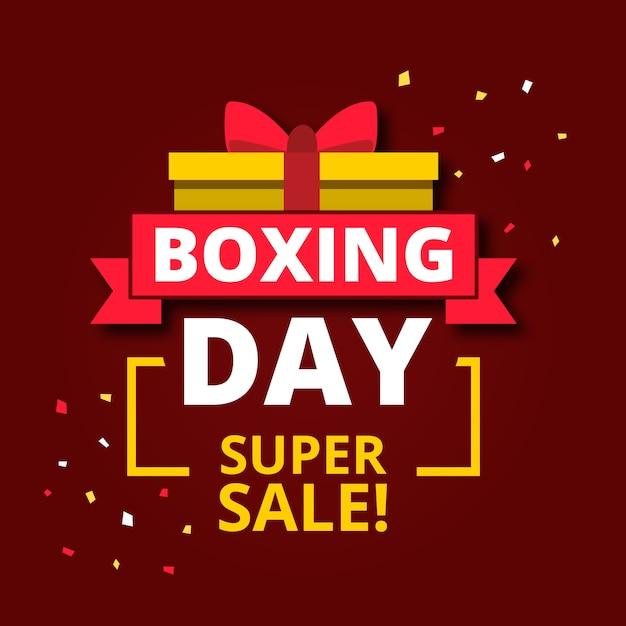 Flaches design-boxing-day-sale-konzept Kostenlosen Vektoren