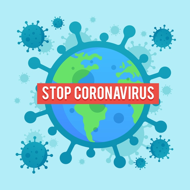 Flaches design coronavirus verbreiten illustration Kostenlosen Vektoren