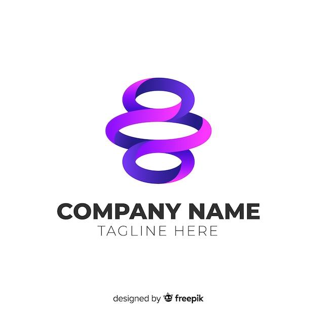 Flaches design des abstrakten logos der steigung Kostenlosen Vektoren