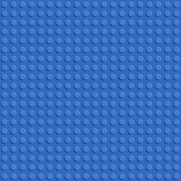 Flaches design des nahtlosen musters der blauen plastikbau-blockplatte Premium Vektoren