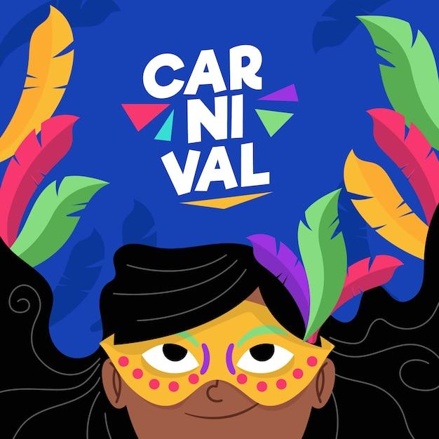Flaches design karneval konzept Kostenlosen Vektoren
