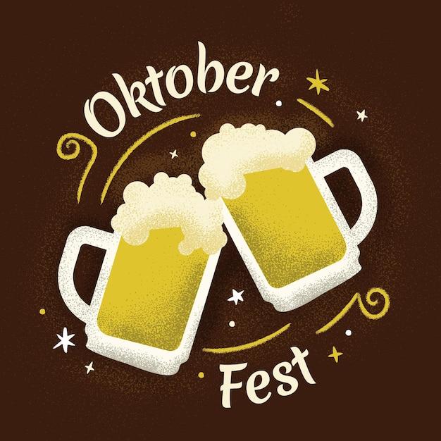 Flaches design oktoberfest-konzept Kostenlosen Vektoren