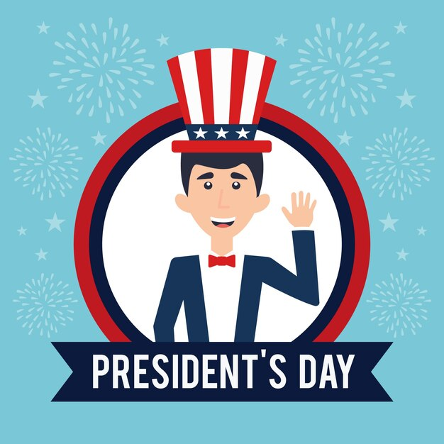 Flaches design presidents day event-thema Kostenlosen Vektoren