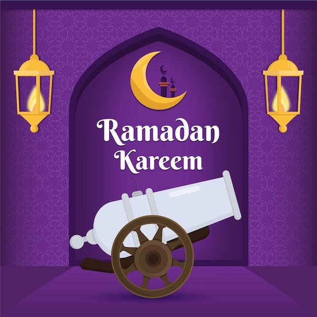 Flaches design ramadan event konzept Kostenlosen Vektoren