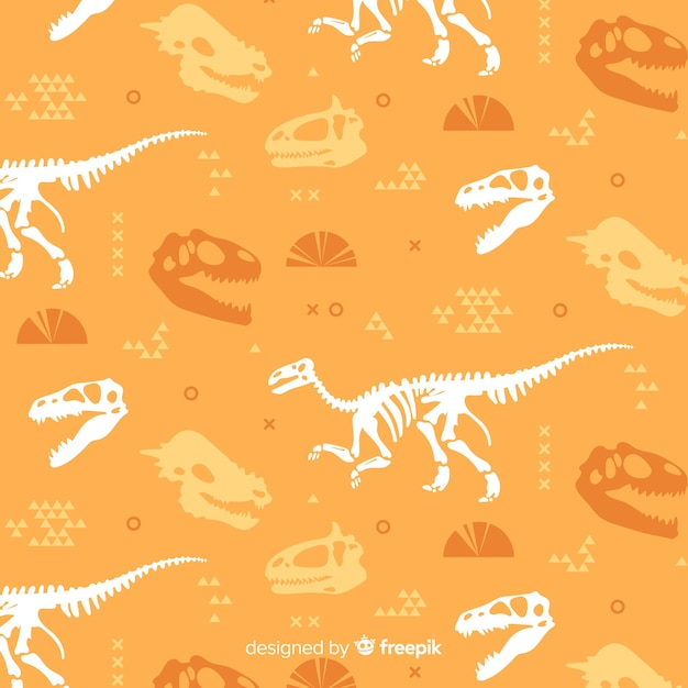 Flaches dinosaurier-muster Kostenlosen Vektoren